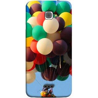 FUSON Designer Back Case Cover For InFocus M350 (Up Up Sky Blue Colourful Balloons Boat Man )