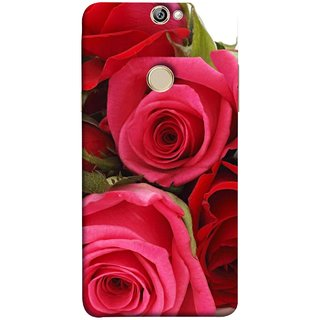 FUSON Designer Back Case Cover For Coolpad Max (Close Up Red Roses Chocolate Hearts For Valentines Day)
