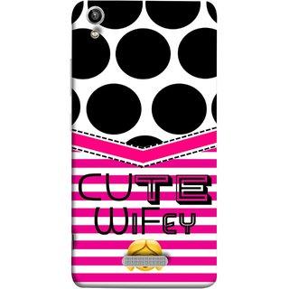 FUSON Designer Back Case Cover For Lava Pixel V1 (Beautiful Wife Husband Nice Couples Pink Design Paper)