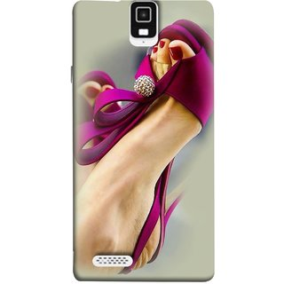 FUSON Designer Back Case Cover For Infocus M330 (Nice Shoes Design Red Nailpolish Womens Girls Females )