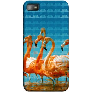 FUSON Designer Back Case Cover For BlackBerry Z10 (Animal Birds Long Beak Beautiful Wallpaper Designs)