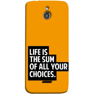 FUSON Designer Back Case Cover For InFocus M2 (Jindgi Tumhari Nirnay Ka Natija Hai Long Life)