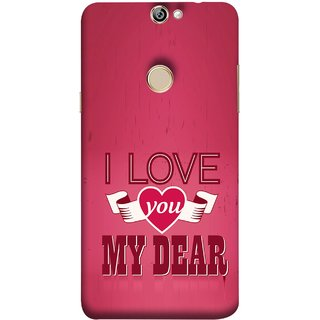FUSON Designer Back Case Cover For Coolpad Max A8 (Pyar Hai Tumse Heart Pink Red True )