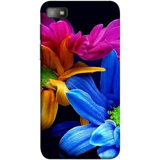 FUSON Designer Back Case Cover For BlackBerry Z10 (Colourful Wow Hd Gerbera Flowers Pink Blur Orange)