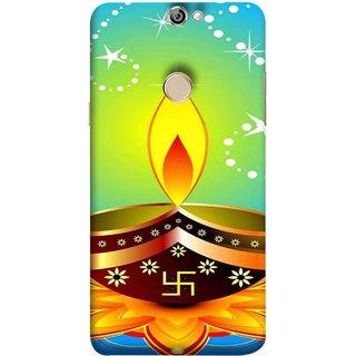 FUSON Designer Back Case Cover For Coolpad Max A8 (Wallpaper Vector Beautiful Vector Diwali Diya)