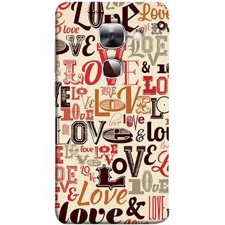 FUSON Designer Back Case Cover For LeEco Le 2s :: LeEco Le 2 Pro :: LeTV 2 Pro :: Letv 2 :: LeEco Le 2 (Red Black Only Love Grey Symbols Victory Brown )
