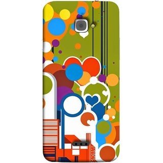 FUSON Designer Back Case Cover For InFocus M350 (Multi Designs Squares Circles Hearts Mehandi)
