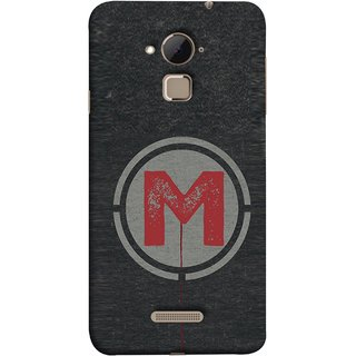 FUSON Designer Back Case Cover For Coolpad Note 3 Lite :: Coolpad Note 3 Lite Dual SIM (M Is Ok Initial Red Glossy Round Icon M Random Red)