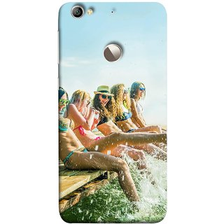 FUSON Designer Back Case Cover For LeEco Le 1s :: LeEco Le 1s Eco :: LeTV 1S (Group Of Happy Young Woman Feet Splash Water In Sea)