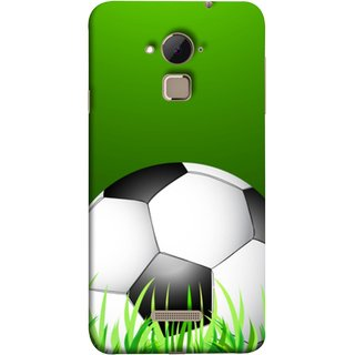 FUSON Designer Back Case Cover For Coolpad Note 3 Lite :: Coolpad Note 3 Lite Dual SIM (Football Green Ground Ball Black White Fifa League )