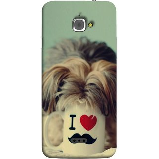 FUSON Designer Back Case Cover For InFocus M350 (Dog Baby Coffee Breakfast Tea Best Morning Loyal )