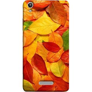 FUSON Designer Back Case Cover For Lava Pixel V1 (Multicolour Dry Leaves Painting Bright Sunny Day )