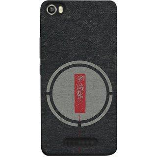 FUSON Designer Back Case Cover For Lava Iris X8 (Dark Alphabet Circle Vintage Grey Circle Pattern I)