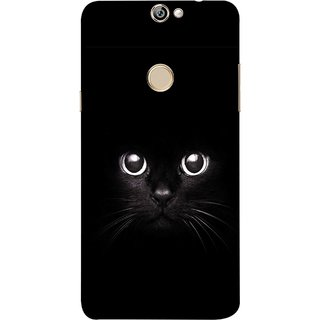 FUSON Designer Back Case Cover For Coolpad Max A8 (Black Kitty Kitten Closeup Of A Long Haired Black Cats )