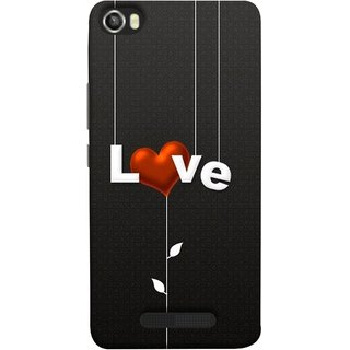 FUSON Designer Back Case Cover For Lava Iris X8 (Red Hearts Hanging Ropes Free Love Tree Multicolour)