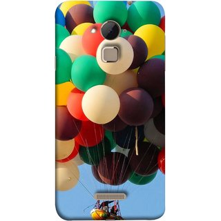 FUSON Designer Back Case Cover For Coolpad Note 3 Lite :: Coolpad Note 3 Lite Dual SIM (Up Up Sky Blue Colourful Balloons Boat Man )