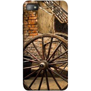 FUSON Designer Back Case Cover For BlackBerry Z10 (Wheel Hay Cart Old Wagons Indian Cycle Rickshow)