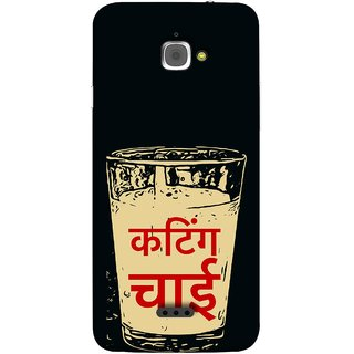FUSON Designer Back Case Cover For InFocus M350 (Half Tea Roadside Chaiwala Chai Marathi Hindi )