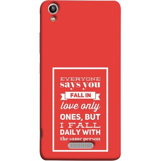FUSON Designer Back Case Cover For Lava Pixel V1 (Everyone Says You Fall In Love Only Once )