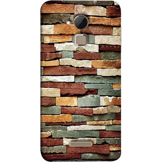 FUSON Designer Back Case Cover For Coolpad Note 3 Lite :: Coolpad Note 3 Lite Dual SIM (Wall Of Multiple Colored Stone Used As A Background)