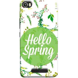 FUSON Designer Back Case Cover For Lava Iris X8 (Season Banner With Fresh Green Leaves Showering)