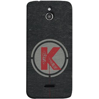 FUSON Designer Back Case Cover For InFocus M2 (K Is Ok Initial Red Glossy Round Icon K Random Red)