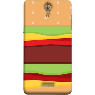 FUSON Designer Back Case Cover For Coolpad Mega 2.5D (Artwork Green Red Lines Brown Circles Bubbles)