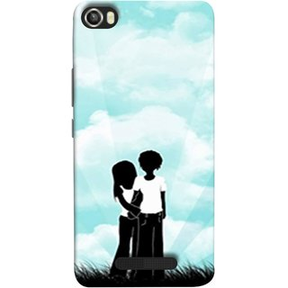 FUSON Designer Back Case Cover For Lava Iris X8 (Boyfriend Girlfriend Together Always Evening Life)