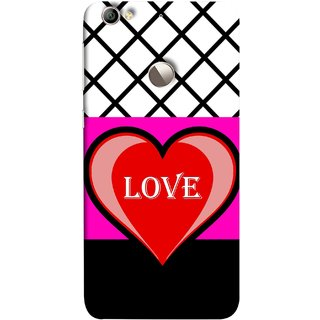FUSON Designer Back Case Cover For LeEco Le 1s :: LeEco Le 1s Eco :: LeTV 1S (Pink Red Wallpapers Flowers Lovers Boyfriends Black)