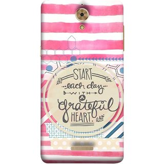FUSON Designer Back Case Cover For Coolpad Mega 2.5D (Great Hearts Dil Love Everyday Quotes Sunny Bright )
