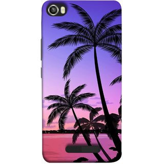FUSON Designer Back Case Cover For Lava Iris X8 ( Twilight On The Beach Coconuts Goa Beach Holidays )