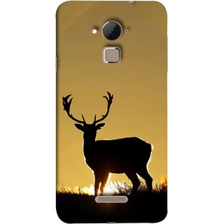 FUSON Designer Back Case Cover For Coolpad Note 3 Lite :: Coolpad Note 3 Lite Dual SIM (Adult Alone Animals Very Big Horns Looking Back)