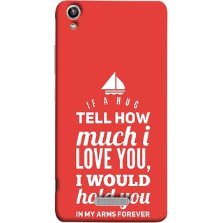 FUSON Designer Back Case Cover For Lava Pixel V1 (If A Hug Tell How Much I Love You Hold You )
