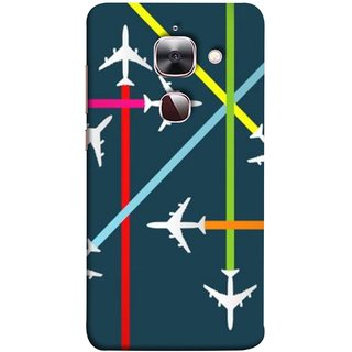 FUSON Designer Back Case Cover For LeEco Le 2s :: LeEco Le 2 Pro :: LeTV 2 Pro :: Letv 2 :: LeEco Le 2 (Aeropalnes Flights Schedules Origin Destination Map)