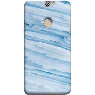 FUSON Designer Back Case Cover For Coolpad Max A8 (Deep Grooves Side Blue Iceberg Floating Antarctic)