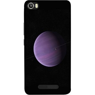 FUSON Designer Back Case Cover For Lava Iris X8 (Rings In Space Zoom Into Beautiful Planet And Stars)