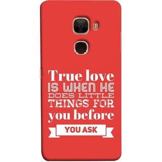 FUSON Designer Back Case Cover For LeTv Le Max :: LeEco Le Max  (Ture Love When Before Ask Care Love Hearts)