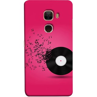 FUSON Designer Back Case Cover For LeTv Le Max :: LeEco Le Max  (Vinyl Disc With Music Notes Music Lover And Collector )