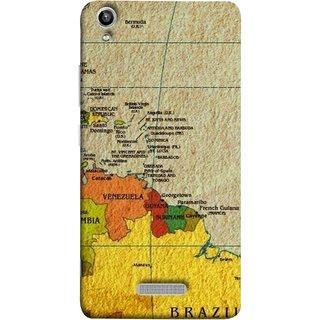 FUSON Designer Back Case Cover For Lava Pixel V1 (Altitude And Longitude Columbus World Countries )