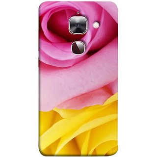 FUSON Designer Back Case Cover For LeEco Le 2s :: LeEco Le 2 Pro :: LeTV 2 Pro :: Letv 2 :: LeEco Le 2 (Pink Red Baby Yellow Shades Friendship Flowers Roses)