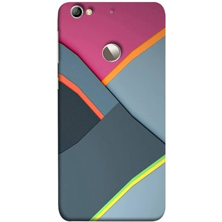 FUSON Designer Back Case Cover For LeEco Le 1s :: LeEco Le 1s Eco :: LeTV 1S (Bright Beautiful Colour Strips And Band Wave Triangle)