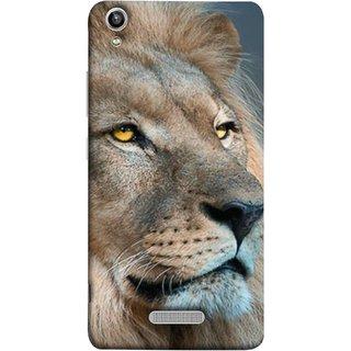FUSON Designer Back Case Cover For Lava Pixel V1 (Jungle King Stearing Aslan Painting Oil Art )