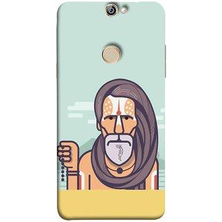 FUSON Designer Back Case Cover For Coolpad Max (Himalaya Sadhu Kumbh Mela Beard Rudraksh Mala)