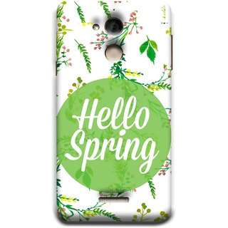 FUSON Designer Back Case Cover For Coolpad Note 5 (Season Banner With Fresh Green Leaves Showering)