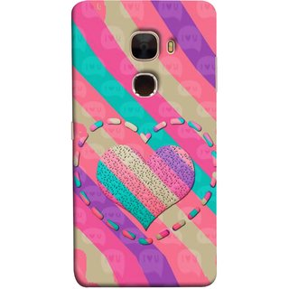 FUSON Designer Back Case Cover For LeTv Le Max :: LeEco Le Max  (Hearts Love Lovely Strips Candy Cane Jellybean)