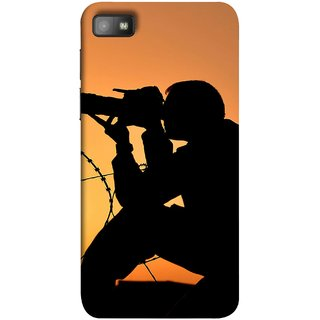 FUSON Designer Back Case Cover For BlackBerry Z10 (Life Through A Lens Sunset Silhouette Camera Lens)