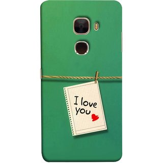 FUSON Designer Back Case Cover For LeTv Le Max :: LeEco Le Max  (You Message Card Over Red Wooden Board Stock Photos)
