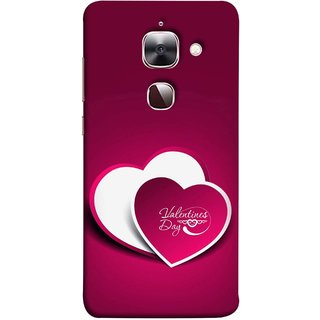FUSON Designer Back Case Cover For LeEco Le Max 2 :: LeTV Max 2 (Just Pinky Say Always I Love You Red Hearts Couples)