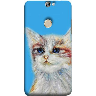 FUSON Designer Back Case Cover For Coolpad Max A8 (Dog Cat Kitten Whisker Puppy Triangle Rectangle)