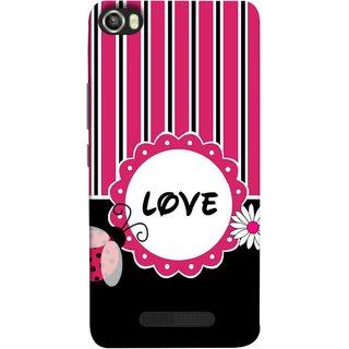 FUSON Designer Back Case Cover For Lava Iris X8 (Pink Black White Vertical Vector Strips Lines Designs)